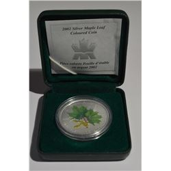 2002 Silver Coloured Maple Leaf