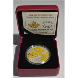 2014 $20 Silver Maple Canopy Autumn Coin