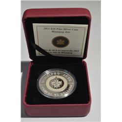 2011 $20 Silver - $20 Winnipeg Jets Coin