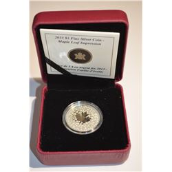 2013 $3 Silver Maple Leaf Impression Coin