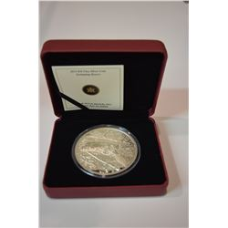 2014 5oz - $50 Swimming Beaver - Pure Silver Coin