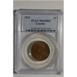 1912 Canada 1-Cent PCGS MS65RB