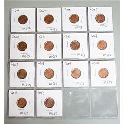 2006-2012 MS State Canada Pennies