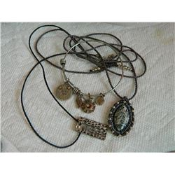 BRACELET & 2 ROPE CHAINS - SOME SILVER
