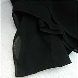 "SHAWL, HIJAB - NEW - BLACK - 13"" X 62"""