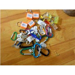 NEW KEY CHAIN HANDY MINI KIT - INCLUDES - 4 MINI TAPE MEASURES(METAL TAPE 3' LONG), 5 MINI LEVELS, 1