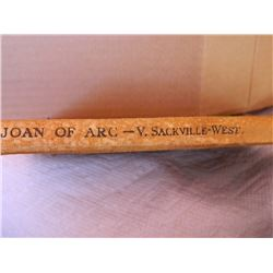 BOOK - VINTAGE - JOAN OF ARC - V SACKVILLE-WEST - 1937