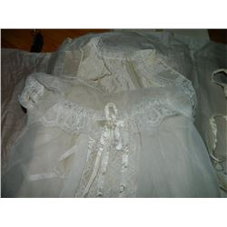 CHRISTENING / BAPTISM GOWN - INCLUDES HAT & UNDER LAYER