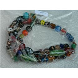 """NECKLACE - COLORFULL GLASS BEEDS & OTHER - 30"""" LONG"""