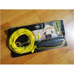 NEW LITEY LEASH - DOGS OF ALL SIZES - NITE TIME LEASH - PUSH BUTTON TO LIGHT - YELLOW