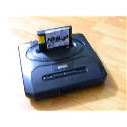 SEGA GENISIS CONSOLE WITH GAME - NO CORDS - UNTESTED