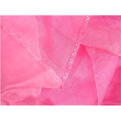 """SHAWL, HIJAB - NEW - PINK - BEADS ON END - 17"""" X 79"""""""