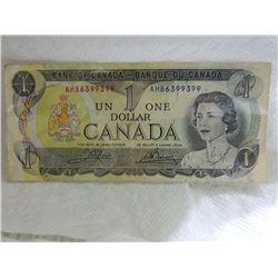 PAPER NOTE - CANADA - $1 - 1973
