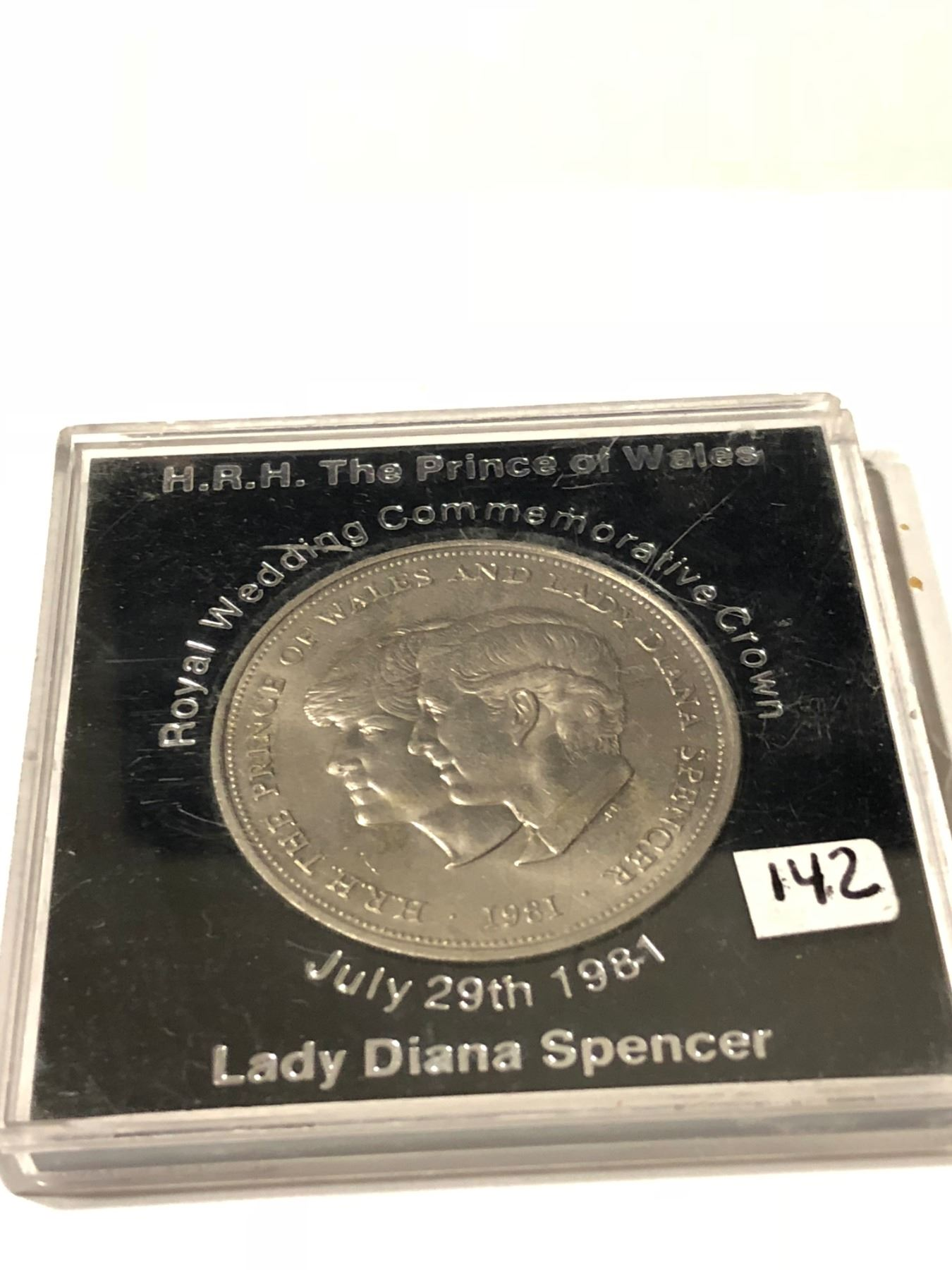 1981 Prince Of Wales Lady Diana Spencer Royal Wedding Commemorative Crown In Hard Display Case