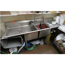 2-Basin Stainless Sink (hose not included)