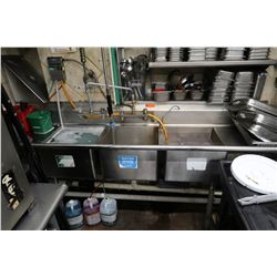 3-Basin Sink w/ Faucet
