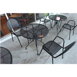 Outdoor Round Metal Table & 2 Chairs