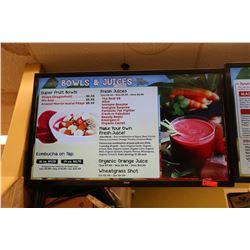 RCA Flat Screen TV (used as menu display)
