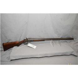 Neumann Bros. Model The Interchangeable .12 Ga Side by Side Hammer Shotgun w/ 30  laminated steel bb