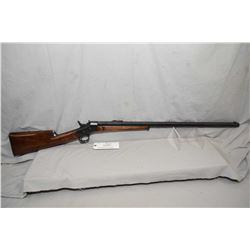 "Antique - Husqvarna Model Remington No. 1 Rolling Block .405 Win Cal Single Shot Rifle w/ 32"" heavy"