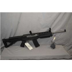 "Ruger Model Mini 14 .223 Cal Mag Fed Semi Auto Rifle w/ 18 1/2"" bbl [ appears v - good, stainless fi"