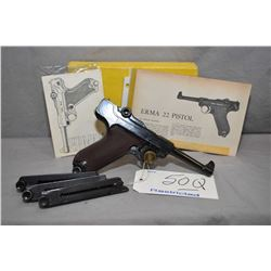 Restricted - Erma Model LA 22 .22 LR Cal 10 Shot Semi Auto Pistol w/ 114 mm bbl [ appears v - good,
