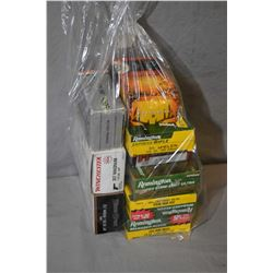 Bag Lot : Approx. 44 Rnds .300 Win Mag Cal Ammo - Approx. 26 Rnds Plus Brass .35 Whelan Cal - Approx