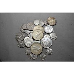 Bag Lot : 1923 U.S. Silver Dollar - 1921 U.S. Silver Dollar - 1923 U.S. Silver Dollar - 1967 Canadia