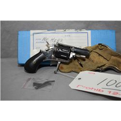 Prohib 12 - 6 Unknown Model Folding Trigger .22 Rimfire Cal 9 Shot Revolver w/ 38 mm bbl [ blued bar