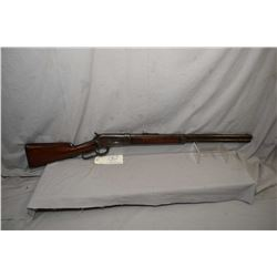"Winchester Model 1886 .40 - 82 WCF Cal Lever Action Rifle w/ shortened to 24"" bbl [ patchy fading bl"