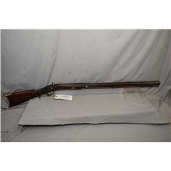"Antique Unknown Model Plain Style Rifle .50 Perc Cal Half Stocked Black Powder Rifle w/ 32"" heavy oc"