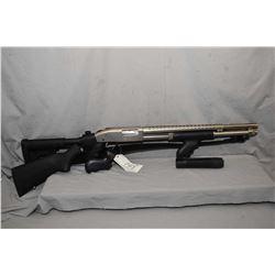 """Mossberg Model 590 .12 Ga 3"""" Pump Shotgun w/ 20 1/2"""" bbl [ appears V - good, stainless finish, exten"""