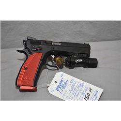 Restricted Handgun CZ Model CZ75 SP - 01 Shadow .9 MM Luger Cal 10 Shot Semi Auto Pistol w/ 114 mm b