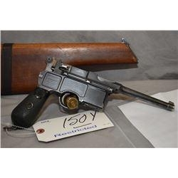 Restricted Mauser Model C96 Broomhandle Conehammer 7.63 Mauser Cal RARE 6 Shot Semi Auto Pistol w/ 1