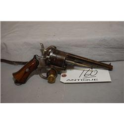 """Antique - Lefaucheux Model Pinfire Revolver .11 MM Pinfire Cal 6 Shot Revolver w/ 5 1/2"""" octagon bbl"""