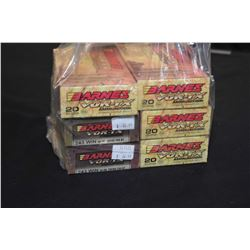 Bag Lot : Six Boxes ( 20 rnds ) Barnes Vor - TX .240 Win Cal 80 Grain Ammo Retail $ 44.00 Each