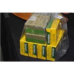 Bag Lot : Five Boxes ( 50 rnds per ) . 9 MM Luger Cal Remington Ammo - Various Grains Retail $ 42.99