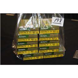 """Bag Lot : Ten Boxes ( 5 rnds Per ) Remington .12 Ga 2 3/4"""" Sabot Slugs 1 Oz. Retail $ 17.99 Each"""