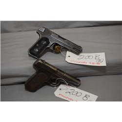 Prohib 12 - 6 Lot of Two Handguns - Colt Model 1903 Pocket Hammerless .32 Auto Cal 8 Shot Semi Auto
