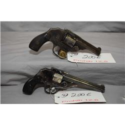 12 - 6 Prohib Lot of Two Handguns - Iver Johnson Model Safety Hammerless Automatic .32 S & Cal 5 Sho