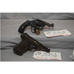 12 - 6 Prohib - Lot of Two Handguns - Savage Model 1907 .32 Auto Cal 9 Shot Semi Auto Pistol w/ 95 m