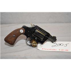 Prohib 12 - 6 Colt Model Cobra .38 Spec Cal 6 Shot Revolver w/ 51 mm bbl [ blued finish, starting to