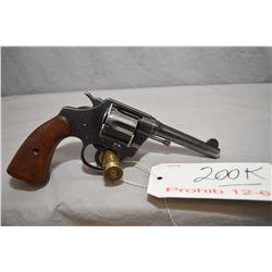 Prohib 12 - 6 Colt Model Police Positive 38 .38 S & W Cal 6 Shot Revolver w/ 102 mm bbl [ fading blu