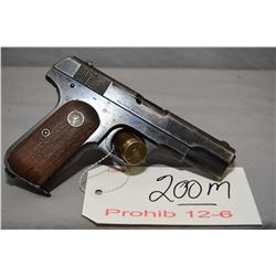 Prohib 12 - 6 Colt Model 1903 Pocket Hammerless .32 Auto Cal 8 Shot Semi Auto Pistol w/ 95 mm bbl [