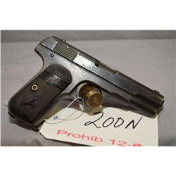 Prohib 12 - 6 Colt Model 1903 Pocket Hammerless .32 Auto Cal 8 Shot Semi Auto Pistol w/ 95 mm bbl [