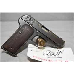Prohib 12 - 6 Ruby Model 1915 7.65 MM Cal 9 Shot Semi Auto Pistol w/ 89 mm bbl [ fading blue finish,