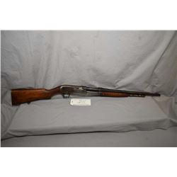 "Remington Model 14A .35 Rem Cal Pump Action Tube Fed Rifle w/ 22"" bbl [ blued finish starting to fad"