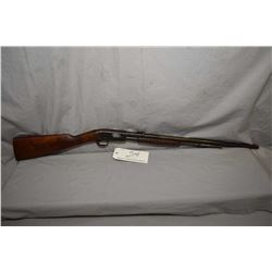 "Remington Model 12 .22 LR Cal Tube Fed Pump Action Rifle w/ 22"" rnd bbl [ fading blue finish turning"