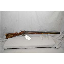 Invest Arms ( Italy ) Model Hawken Percussion Rifle Reproduction .54 Perc Cal Single Shot Black Powd