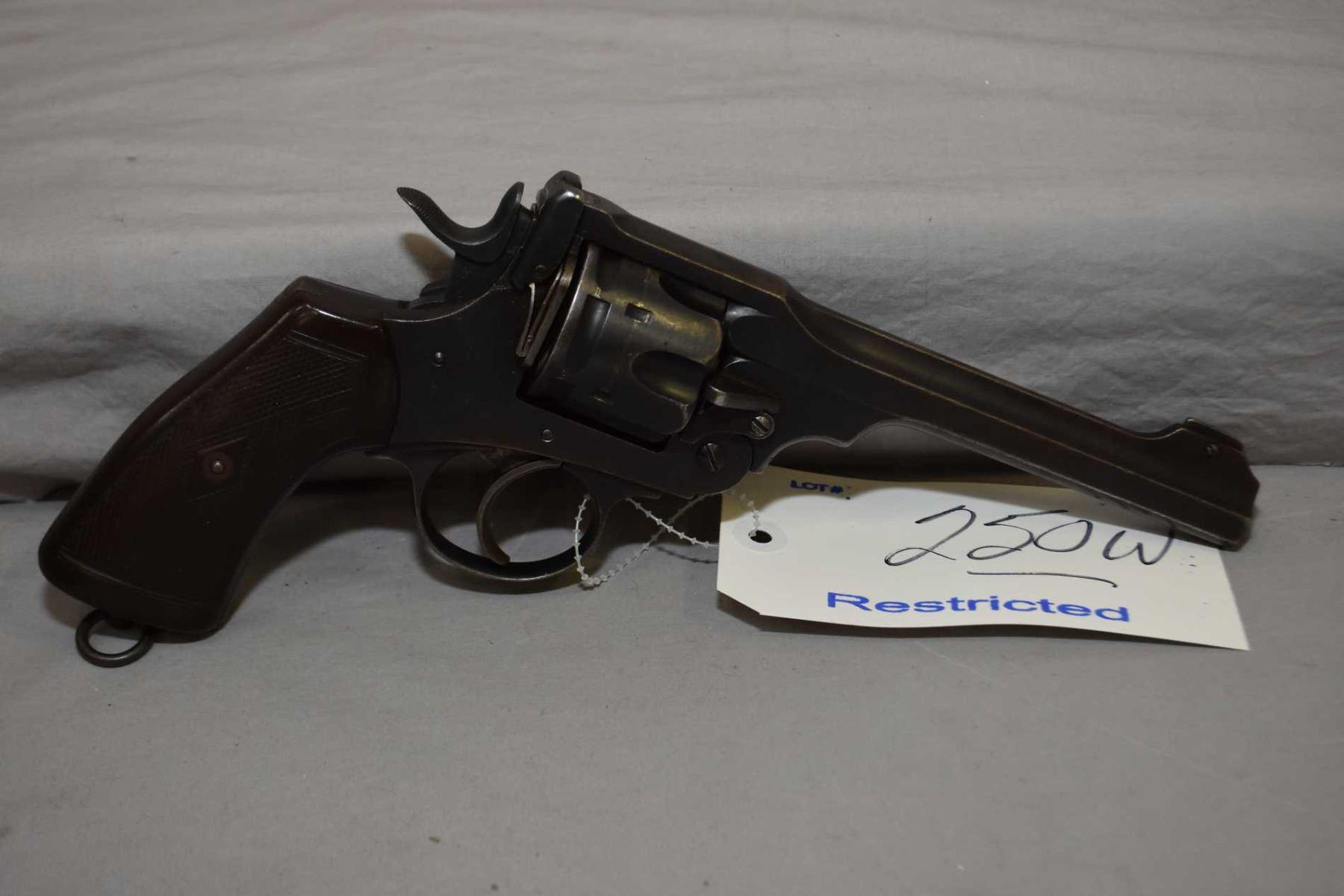 Restricted Webley Model Mark VI  455 Rev Cal 6 Shot